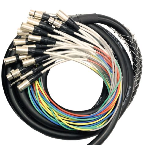 Snake Cable 16 4 Chanel 30 Mtr 16 channel 25 foot xlr snake cable xlr 1 4 quot trs returns stage pro audio dj ebay
