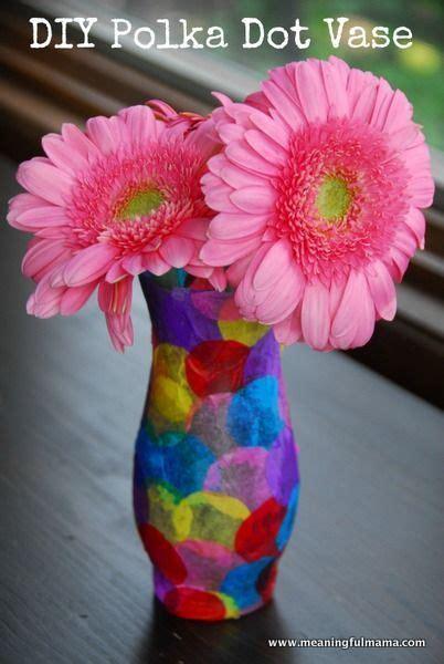 Tisu Polkadot By Our polka dot vase craft tissue paper vase and paper