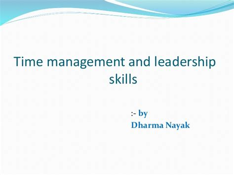 Wgu Mba Management And Leadership Review by Time Managment And Leadership Skills