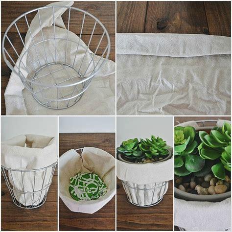 Cloth Planters by Diy Wire Drop Cloth Planter