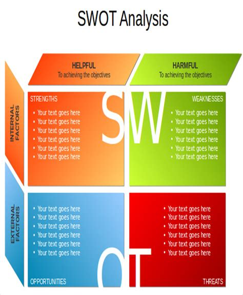 swot analysis powerpoint templates 7 free ppt format