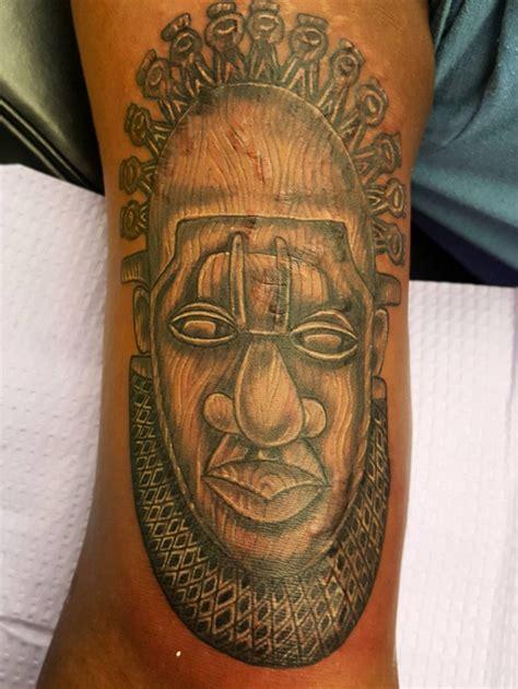 tattoo animal mask african tattoos