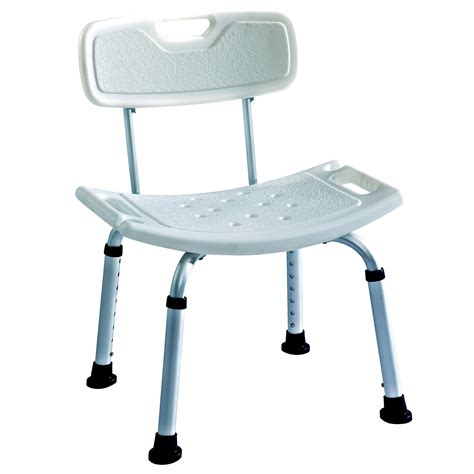 bath shower seats lightweight aluminium deluxe shower stool bath seat with backrest ebay