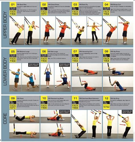 best 25 trx workout pdf ideas on leg workout