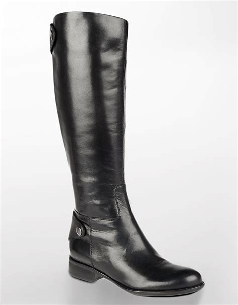 franco sarto rivoli leather boots in black lyst