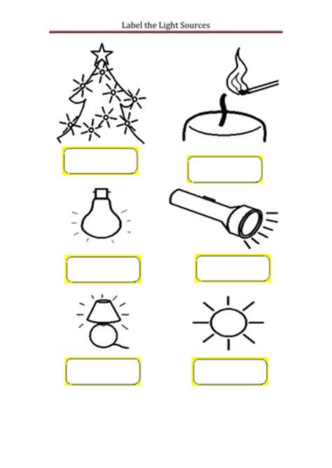 light sources by kyleb99 teaching resources tes