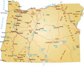 a map of oregon oregon state map with cities blank outline map of oregon