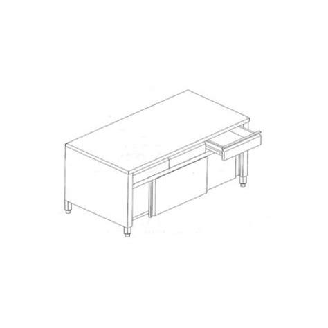 tavoli con cassetti tavolo armadiato con scorrevoli e cassetti inox in linea