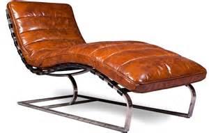 chaise longue vintage cuir prenium lestendances fr