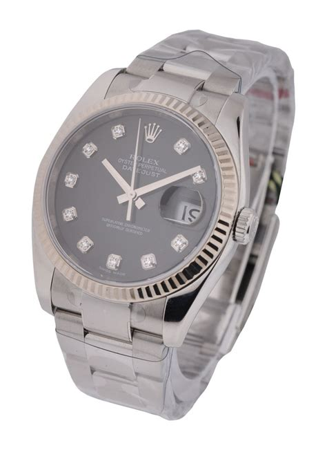 Rolex Date Just Wg For 116200 rolex datejust 36mm steel with oyster wg fluted
