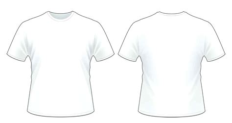 White T Shirt Front And Back Template T Shirt Front And Back Template