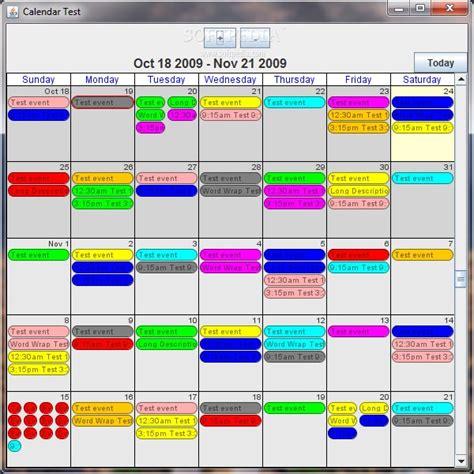 Java Calendar Java Calendar Tools 0 4 6