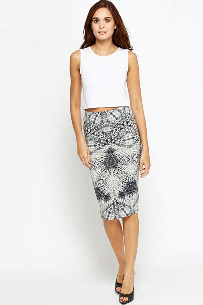 grey midi pencil skirt dress
