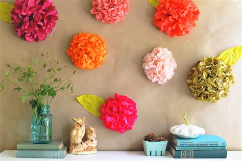 Temple Decoration Ideas For Home by Diy Tissue Paper Flower Backdrop