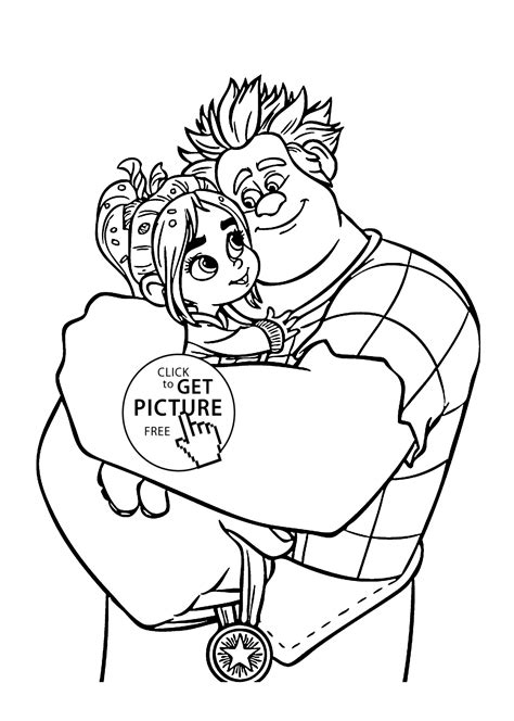 disney coloring pages wreck it ralph ralph and vanellope coloring pages for printable