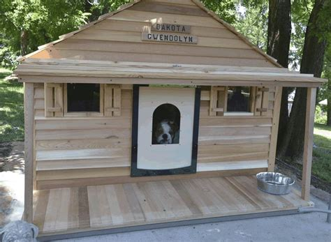heated dog houses for small dogs bad ass dog house you can even install central air and