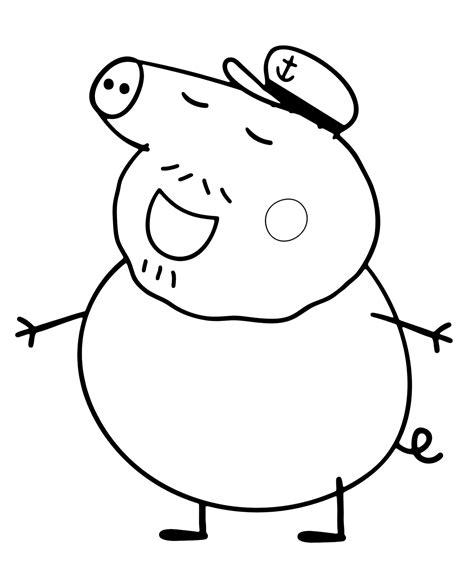 The Pig Coloring Pages Peppa Pig Nonno Pig E Il Suo Cappello Da Marinaio by The Pig Coloring Pages