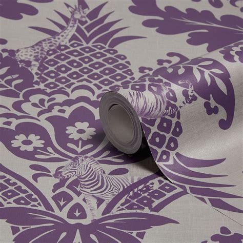 holden decor bengal purple damask wallpaper departments