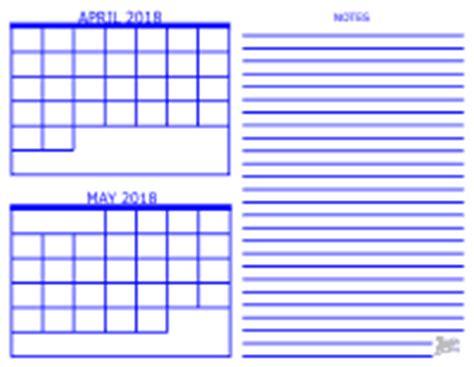 2 Month Calendar 2 Month Calendar 2018