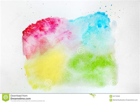 colorful watercolor paint on white canvas high resolution and quality stock illustration