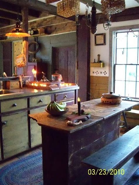 primitive kitchen island primitive kitchen kitchens posts kitchens