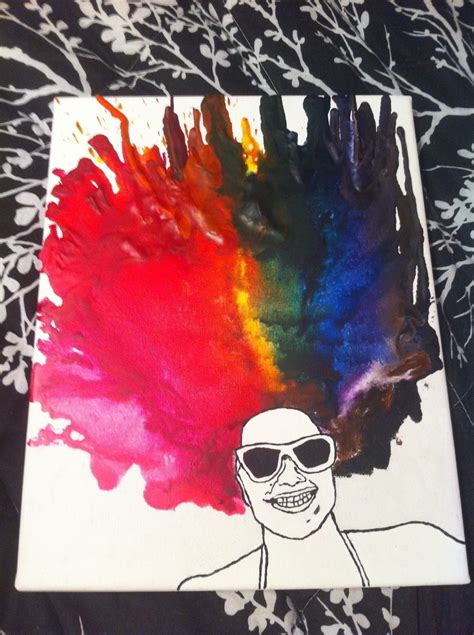 melted crayon portrait   create  piece  melted crayon art art drawing