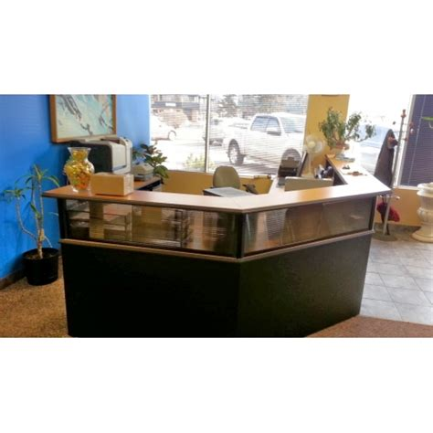 Maple Reception Desk Maple Reception Desk Suite System Apx 144x96 Quot Allsold Ca Buy Sell Used Office Furniture