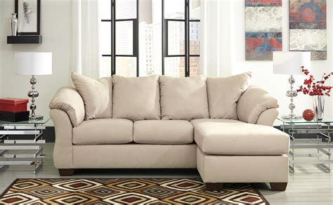 ashley darcy sectional darcy stone chaise sectional from ashley 7500018
