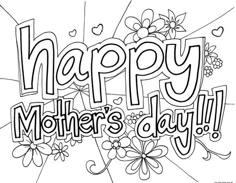 pages free print out happy mothers day coloring page for