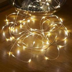 Patio Led String Lights Micro Led String Lights Battery Operated Remote Controlled Outdoor 5m Auraglow Led