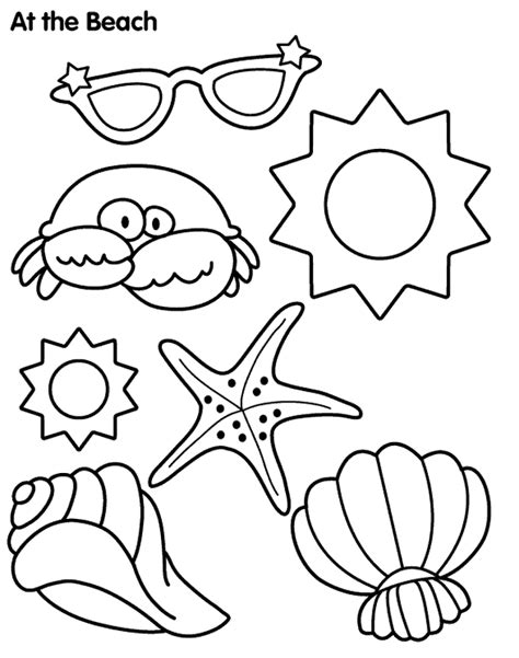 house items coloring pages printable beach coloring pages coloring home