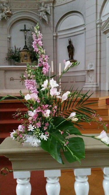 Liturgical flower arrangement. Church Altar   Floral