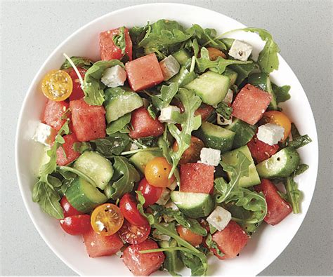 watermelon tomato salad tomato watermelon salad with feta and toasted almonds recipe dishmaps