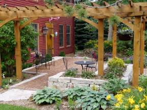 Pergolas Patio by Front Yard Patio Amp Entry Pergola On Salt Box Home Old