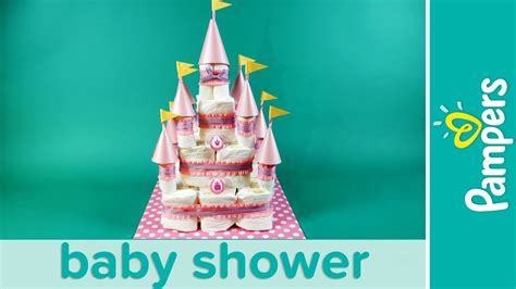 How To Make A Baby Shower Cake Out Of Diapers by Princess Baby Shower How To Make A Castle Cake Pers