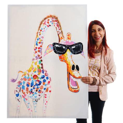 Tierbilder Auf Leinwand by 214 Lgem 228 Lde 100 Handgemaltes Wandbild Leinwand Keilrahmen