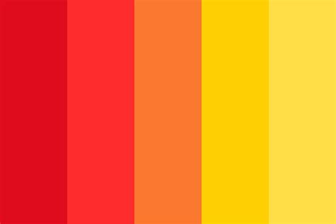 warm color schemes warm tones color palette