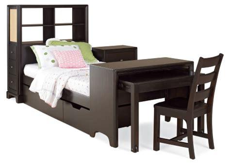 platform bed with desk midtown bookcase storage platform bed with desk at hayneedle