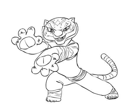 kung fu panda tigress coloring page likes this dibujos de kung fu panda para colorear