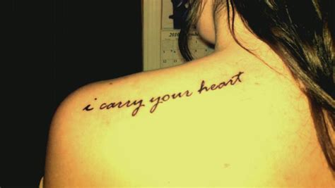 i carry your heart contrariwise literary tattoos