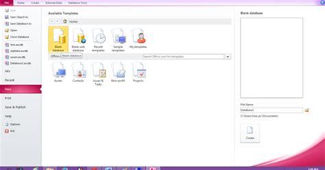 tutorial membuat database dengan microsoft excel tutorial membuat tabel database dengan microsoft access