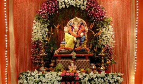 decoration themes for ganesh festival at home ganesh chaturthi decoration tips ideas ganpati decor