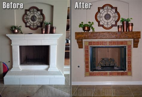 upgrade with a diy fireplace mantel faux wood workshop
