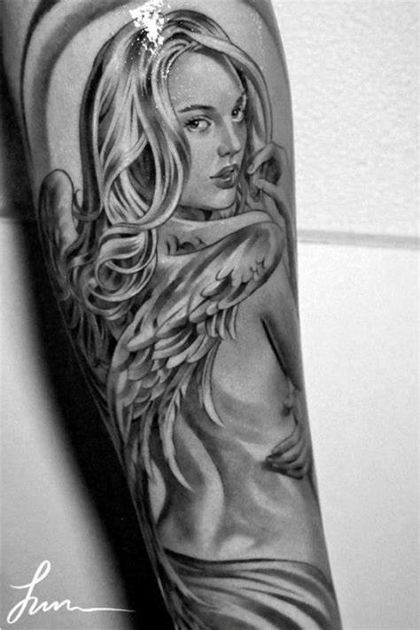 jun cha angel tattoo jun cha angel tattoo tattoo pinterest tattoos and
