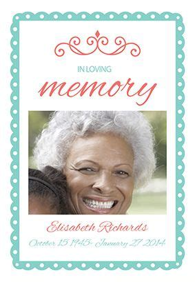 Quot In Loving Memory Quot Printable Invitation Template Customize Add Text And Photos Print Or In Loving Memory Template Free