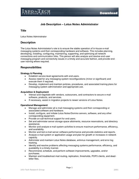 templates for job descriptions job description template job description template png