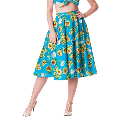 50s swing skirt hell bunny sunflower rockabilly vintage 50s jive