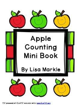 my apple counting book free class library emergent readers and mini books on