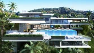 Home Design House In Los Angeles by Two Luxury Ultramodern Mansions On Sunset Plaza Drive In