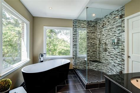 black master bathroom contemporary master bathroom with handheld shower head by karen cannon zillow digs